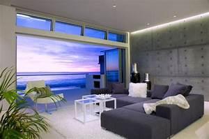 19, ravishing, ocean, front, living, room, design, ideas