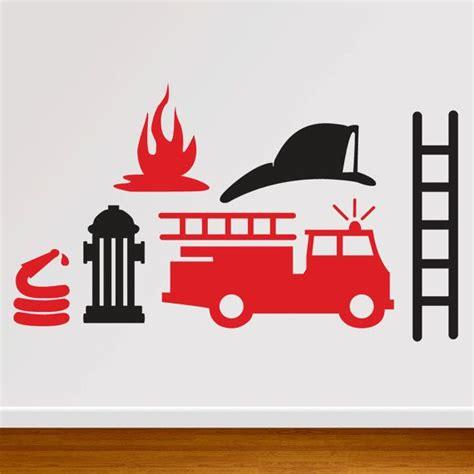 wall decal fireman fire truck decal db