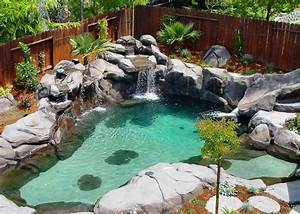 Swimming Pools Built With Natural Look, small pool designs
