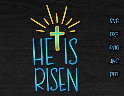 Risen He Clipart Jesus Christian Religious Svg
