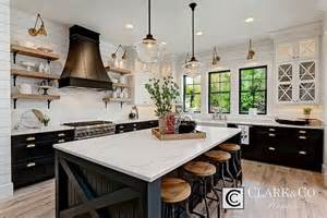 kitchen island with open shelves modern farmhouse kitchens house of hargrove