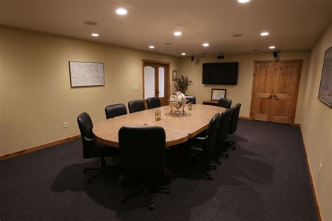 rustic conference room business coteau des prairies lodge