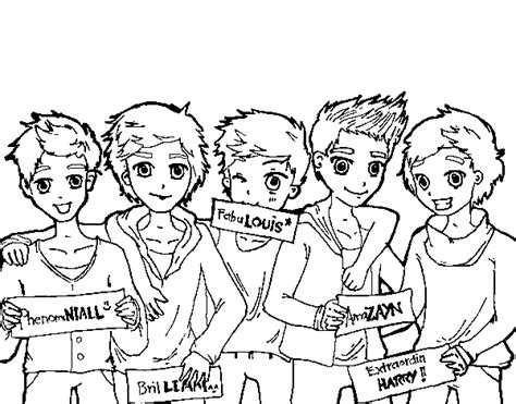 Disegno Di I Ragazzi Di One Direction Da Colorare