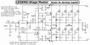 Scematic Diagram Panel  Legend Stagemaster Amp Circuit