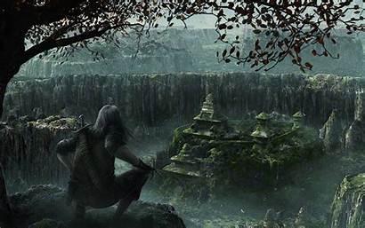 Aztec Fantasy Rain Warrior Background Desktop Wallpapers