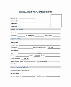 Sample scholarship form 8 documents in pdf word for Scholarship forms template