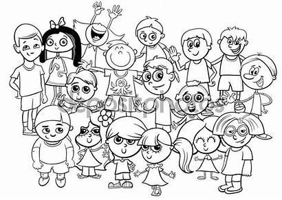Colorear Grupo Coloring Children Dzieci Kolorowanki Cartoon