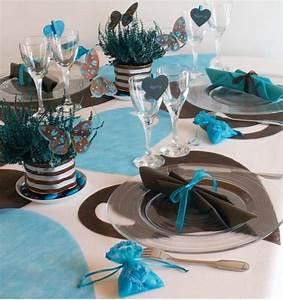 Centre De Table Chocolat : id es d co de mariage on craque pour le turquoise ~ Zukunftsfamilie.com Idées de Décoration