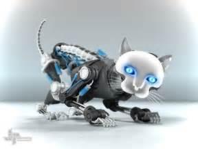 robot cat 3d design cat cgtrader