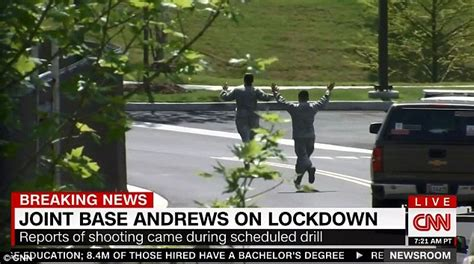 Maryland's Andrews Air Force base errupts into chaos after ...