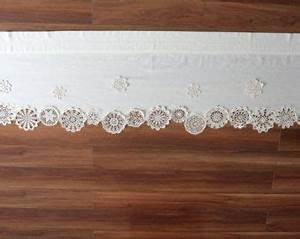 Leinen Gardine Mit Häkelspitze : dieser kurze vorhang ist die einmalige dekoration der vorhang besteht aus baumwollgewebe mit ~ Orissabook.com Haus und Dekorationen