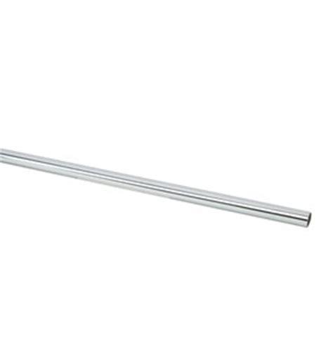 custom size 1 inch chrome hanging closet rod in