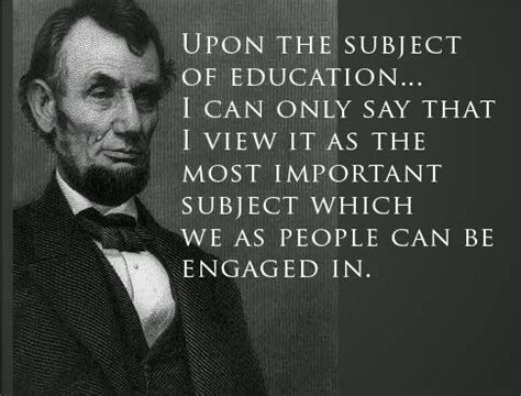 abraham lincoln quote  education words pinterest