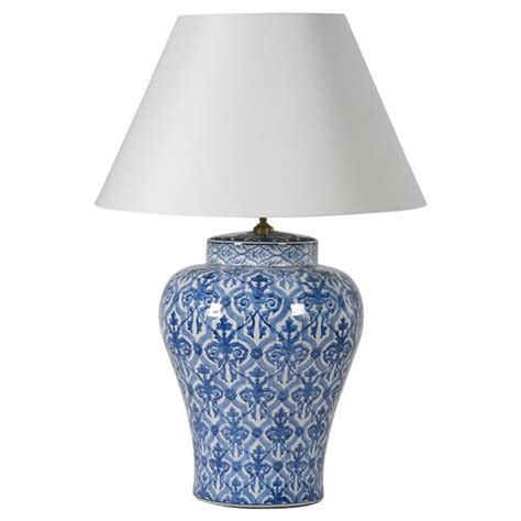 blue and white l shade vale furnishers l shade with blue and white jar