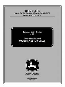 John Deere 4105 Compact Utility Tractor Technical Manual