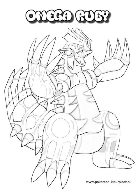 Groudon Kleurplaat by Primal Groudon Coloring Page Omega Ruby And Alpha