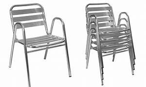 Chaise De Jardin Aluminium : chaise de jardin en m tal oviala ~ Teatrodelosmanantiales.com Idées de Décoration