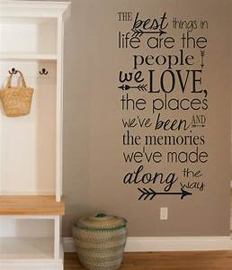 Quote wall stickers for bedrooms : Vinyl wall quotes on art