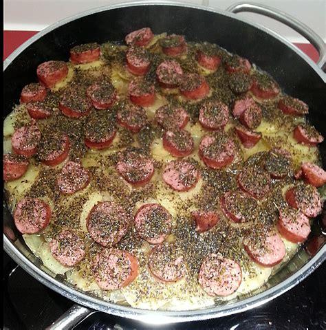 schnelle kartoffel rezepte schnelle bohnen kartoffel pfanne mit mettenden rezept mit bild chefkoch de
