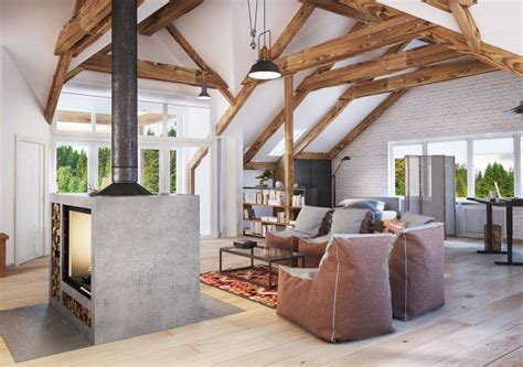 4 Stylish Homes With Slanted Ceilings by 4 Stylish Homes With Slanted Ceilings