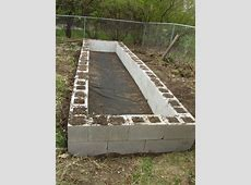 Making A Raised Garden Bed With Cinder Blocks… Eco Snippets