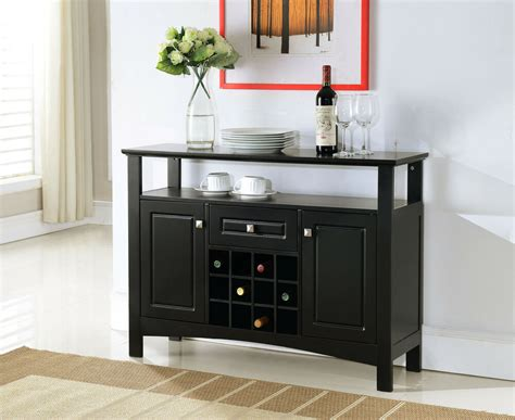 wine console cabinet brand black finish wood wine rack buffet cabinet