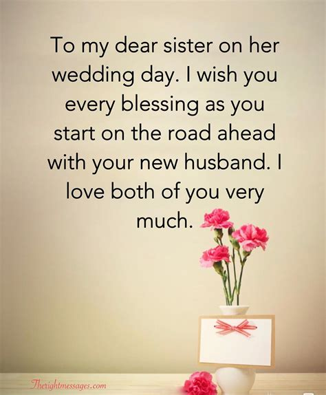 short  long wedding wishes  sister   messages
