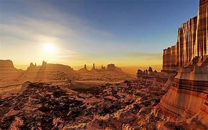 Desert Sunset Sunlight Cg 1080p