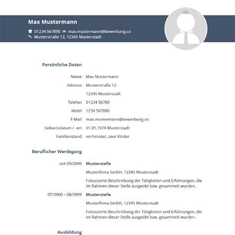 Tabellarischer Lebenslauf Vorlage 2016 by Muster 2016 Tabellarischer Lebenslauf
