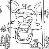 Foxy Coloring Fnaf Printable Nights Five Colouring Sheets Adults Detailed Fox Freddys Visit sketch template