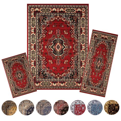 area rug and runner sets traditional medallion 3 pcs area rug