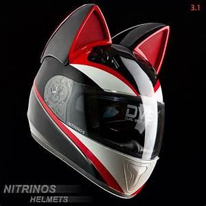 Casque De Moto : des casques de moto avec des oreilles de chat ~ Medecine-chirurgie-esthetiques.com Avis de Voitures