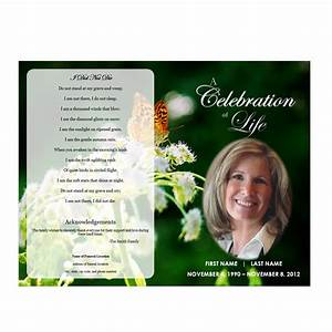 butterfly memorial program funeral pamphlets With funeral pamphlets templates free