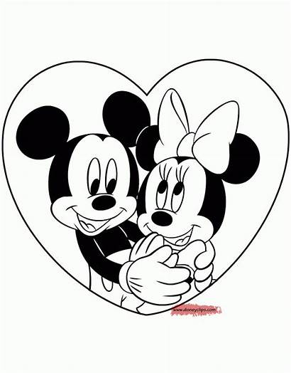 Minnie Mickey Coloring Mouse Printable Disney Valentine