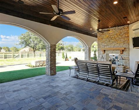 outdoor living spaces for houston custom homes morning