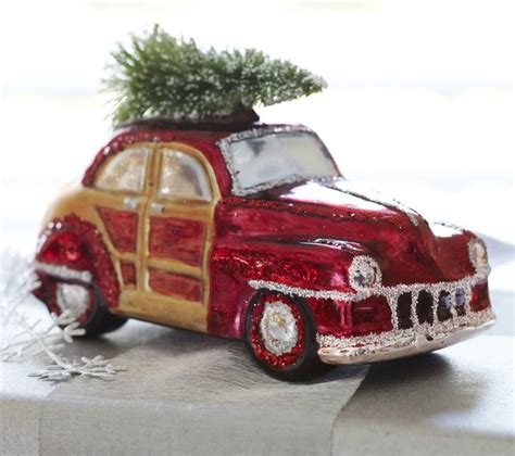 woody car glass ornament contemporary christmas