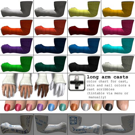 color of cast ht arm casts color chart all included colour