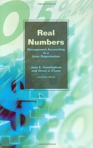 real numbers management accounting   lean organization