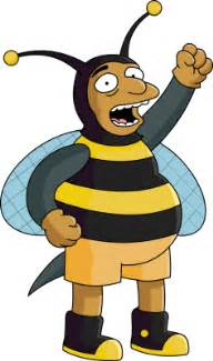 Image result for simpsons bee man