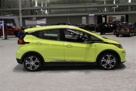 The most popular vehicles list by edmunds also has the chevrolet camaro on it for those who simply refuse to give up sporty fun. Green..in more than one way. The Chevrolet Bolt on display at the New England International Auto ...
