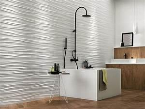 Decoration murale creative 3d salle de bains en ceramique for Salle de bain design avec liège décoration murale