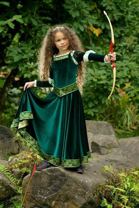 Princesa guerrera   Merida costume, Kids dress, Brave costume
