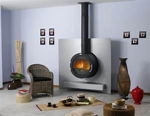 Cheminée Bois Design : cheminee moderne godin ~ Premium-room.com Idées de Décoration
