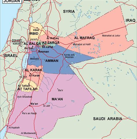 jordan political map order   jordan political map