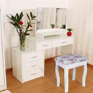 Pouf En Bois : helloshop26 coiffeuses tabouret pour coiffeuse piano en bois blanc ~ Teatrodelosmanantiales.com Idées de Décoration
