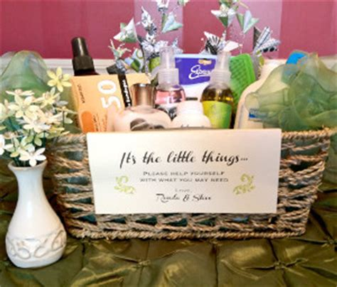 wedding bathroom basket allfreediyweddingscom