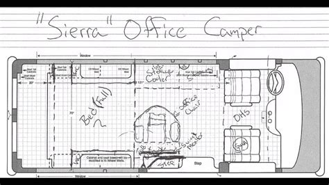 Office Camper Van Floor Plan
