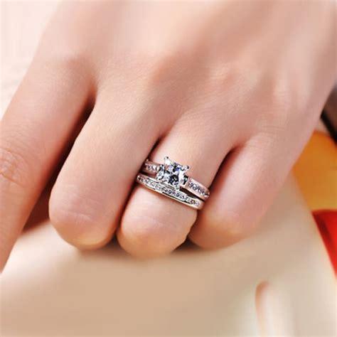 princess cut black ring 1 0 ct brilliant princess cut 925 sterling silver