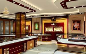 Luxury Interior Design For Jewellery Shop With Chinese