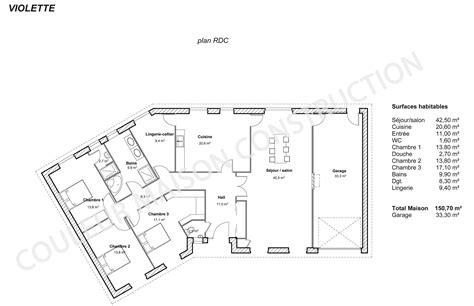 plan de maison plein pied gratuit 3 chambres plan de maison plain pied 4 chambres gratuit agrandir le